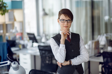 Business manager girl in the office