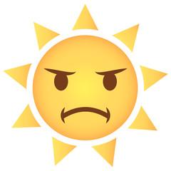 Sonne Emoji beleidigt