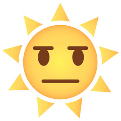 Sonne Emoji kritisch