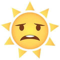 Sonne Emoji besorgt