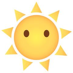 Sonne Emoji blankes Gesicht