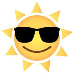 Sonne Emoji cool - Sonnenbrille