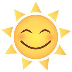 Sonne Emoji überglücklich