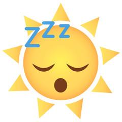 Sonne Emoji schlafend