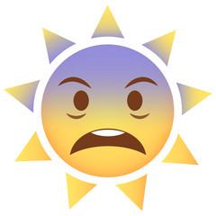 Sonne Emoji geschockt
