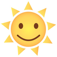 Sonne Emoji freuend