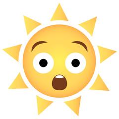 Sonne Emoji erstaunt