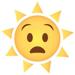 Sonne Emoji staunend