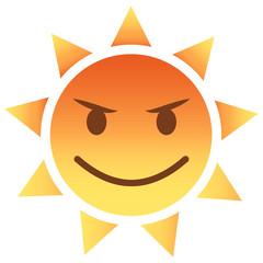 Sonne Emoji böse