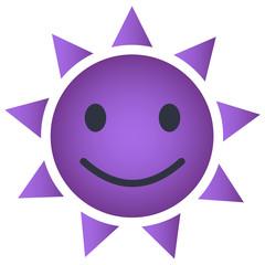 Sonne Emoji violett