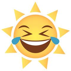 Sonne Emoji Tränen lachend