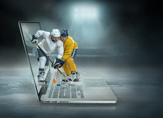ice hockey Players in dynamic action