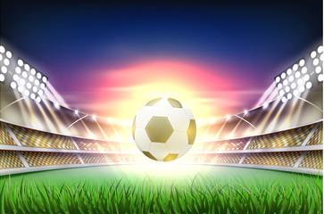 Vector realistic footbal soccer stadium background