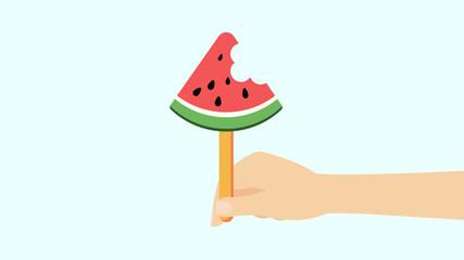 Wassermelone am Stiel - Konzept