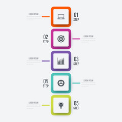 Vector illustration infographics 5 options