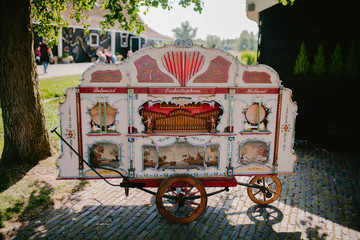 Vintage cart with pictures