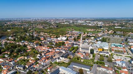 Photographie aérienne de la ville de Vertou, en Loire Atlantique