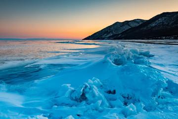 Printed kitchen splashbacks Glaciers Zachód słońca, Jezioro Bajkał.