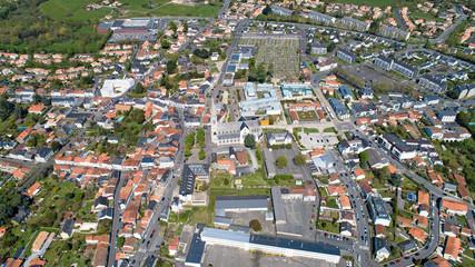 Photo aérienne du centre-ville de Vertou en Loire Atlantique