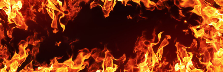 Deurstickers Vuur Fire Flames Background