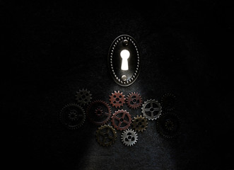 Gears and keyhole