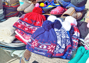 sale of handmade products on the street