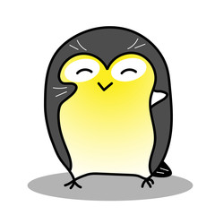 Cute titmouse vector illustration
