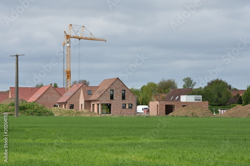 Chantier De Construction De Maison Neuve En Brique Stock Photo And