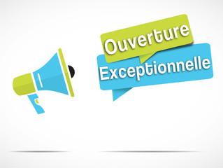 mégaphone : ouverture exceptionnelle