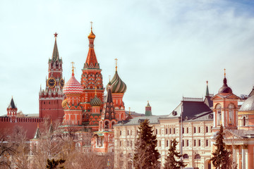 Fototapete - St. Basil Cathedral, Red Square, Moscow