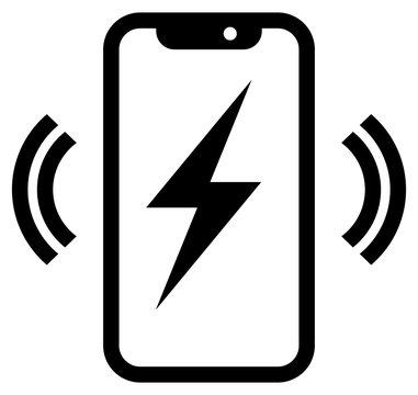 Phone wireless charging icon
