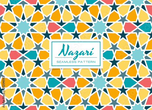Colorful Arabic Mosaic Design Eps 10 Seamless Pattern Tile Perfect For Backgrounds