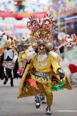 Dancers at Oruro Carnival in Bolivia, declared UNESCO Cultural World Heritage.