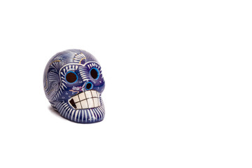 Blue sugar skull isolated