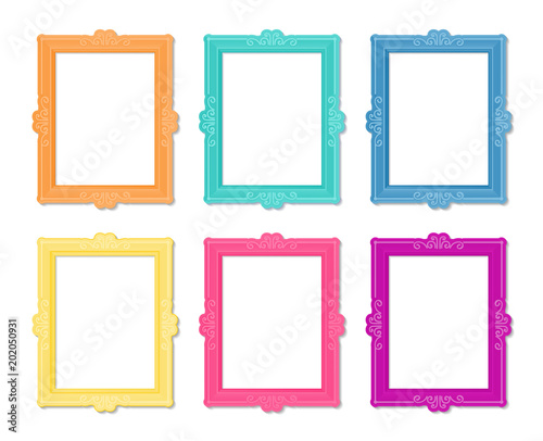 Decorative vector template frame. This photo frame you can use for ...