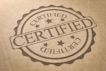 Karton Stempel zertifiziert