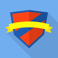 Family shield icon. Flat illustration of family shield vector icon for web