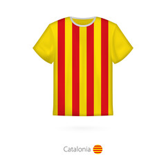 T-shirt design with flag of Catalonia.