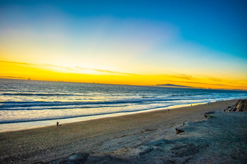 Colorful Sunset in Southern California