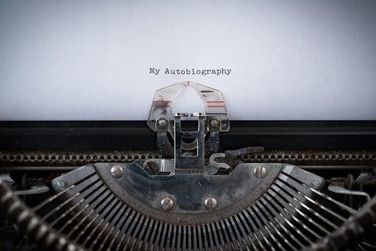 Autobiography Typed on Typewriter
