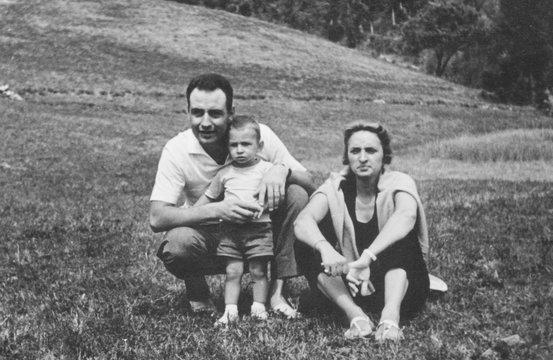 Family portrait in 1960
