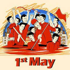 1st May Happy Labor Day on ocassion of International Workers' Day background