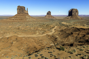 The Moon over Monument Valley