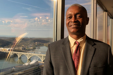 Raphael Bostic President of the Federal  Reserve Bank of Atlanta poses for a photo in Knoxville