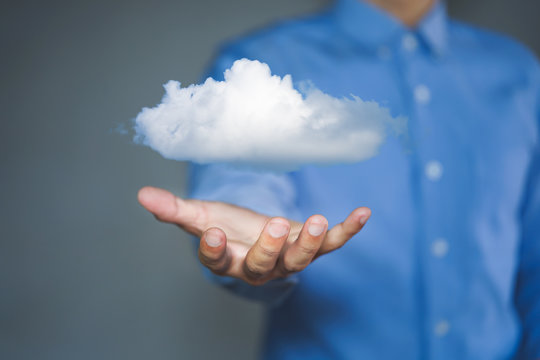 Cloud computing concept. Connect to cloud, Information technologist.
