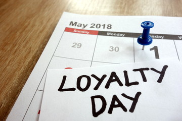 Loyalty day 2018 date marked on calendar