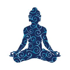 Krishna pattern silhouette traditional religion spirituality