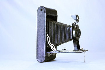 An Isolated beautiful vintage camera
