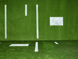 Football field turf background full frame