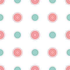 Printed kitchen splashbacks Spiral Seamless pattern of multicolored dotted circles